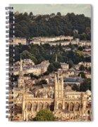 View Of Bath England Spiral Notebook