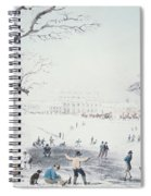 View Of Buckingham House And St James Park In The Winter Spiral Notebook