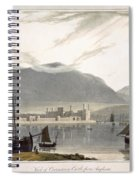 View Of Caenarvon Castle From Anglesea Spiral Notebook