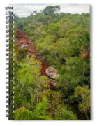 View Of Cano Cristales In Colombia Spiral Notebook