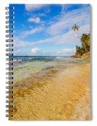 View Of Caribbean Coastline Spiral Notebook