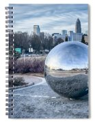 View Of Charlotte Nc Skyline From Midtown Park Spiral Notebook