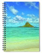 View Of Chinaman's Hat Spiral Notebook