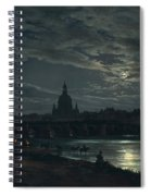 View Of Dresden By Moonlight Spiral Notebook