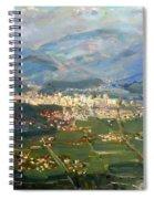 View Of Elbasan City Spiral Notebook