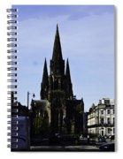 View Of Episcopal Cathedral In Edinburgh Spiral Notebook