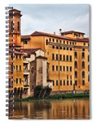 View Of Florence Along The Arno River Spiral Notebook