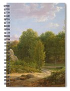 View Of Fontainebleau Forest, 1829 Oil On Canvas Spiral Notebook