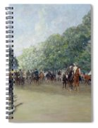 View Of Hyde Park With Figures On Rotten Row  Spiral Notebook