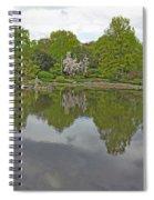 View Of Japanese Garden, Wroclaw, Poland Spiral Notebook