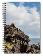 View Of Lava Rock On The Coast, Pico Spiral Notebook