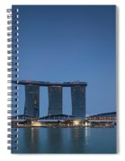View Of Marina Bay Sands Hotel Spiral Notebook