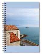 View Of Mediterranean In Antibes France Spiral Notebook