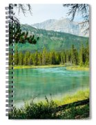 View Of Mistaya Between The Trees Spiral Notebook