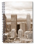 View Of Montreal In Sepia Spiral Notebook