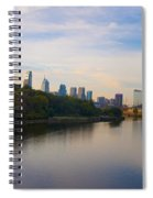 View Of Philadelphia From The Girard Avenue Bridge Spiral Notebook