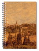 View Of Pienza And The Tuscan Landscape Spiral Notebook
