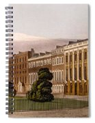 View Of Portman Square, North Side, 1816 Spiral Notebook
