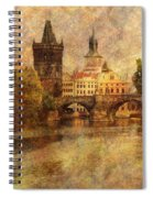 View Of Prague Spiral Notebook