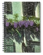 View Of Purple Spiral Notebook