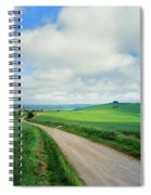 View Of Road Passing Through A Field Spiral Notebook