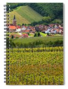 View Of Rodern From The Vineyards Of Alsace Spiral Notebook