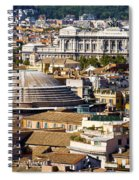 View Of Rome's Rooftops Spiral Notebook
