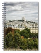 View Of Sacre Coeur From The Musee D'orsay Spiral Notebook