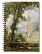 View Of Salisbury Cathedral From The Bishop's Grounds Spiral Notebook