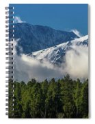 View Of San Juan Mountains With Clouds Spiral Notebook