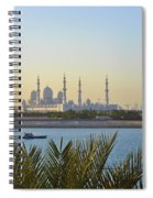 View Of Sheikh Zayed Grand Mosque Spiral Notebook