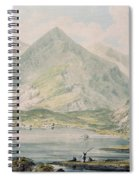 View Of Snowdon Wc On Paper Spiral Notebook