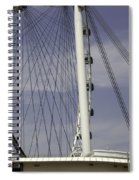 View Of Spokes Of The Singapore Flyer Along With The Base Section Spiral Notebook