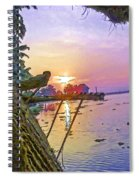View Of Sunrise From A Houseboat Spiral Notebook
