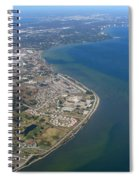 View Of Tampa Harbor Before Landing Spiral Notebook