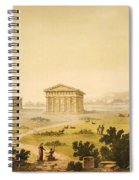 View Of Temples In Paestum At Syracuse Spiral Notebook