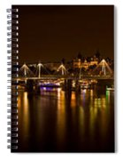View Of Thames River From Waterloo Spiral Notebook