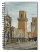 View Of The Arsenale. Venice Spiral Notebook