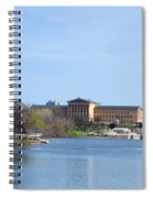 View Of The Art Museum And Waterworks In Philadelphia Spiral Notebook