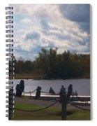 View Of The Creek From Catskill Point Spiral Notebook