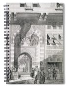 View Of The Door Of Okal Kaid-bey Spiral Notebook