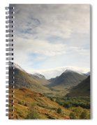 View Of The Glencoe Mountains Spiral Notebook