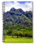 View Of The Koolau Range Spiral Notebook