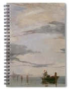 View Of The Lagoon Near Venice, 1826  Spiral Notebook