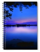 View Of The Night Lake Spiral Notebook