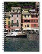 View Of The Portofino, Liguria, Italy Spiral Notebook
