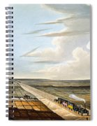 View Of The Railway Across Chat Moss Spiral Notebook