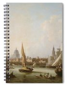 View Of The River Thames  Spiral Notebook