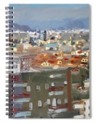 View Of Tirana From Dajti Mountain Spiral Notebook