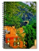 View Of Train Tunnel Spiral Notebook